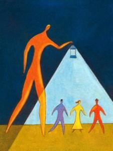 Il n'y a de guide que si une personne se met en position de disciple, c'est donc le disciple qui crée le maître...mais il y a des montreurs de chemin susceptibles d'éclairer les bas-cotés